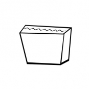 Asymetrical Box Pouch Style